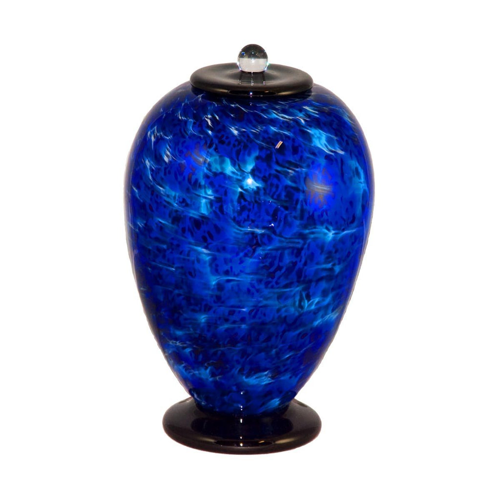 Waterfall Deco Handblown Glass Urn