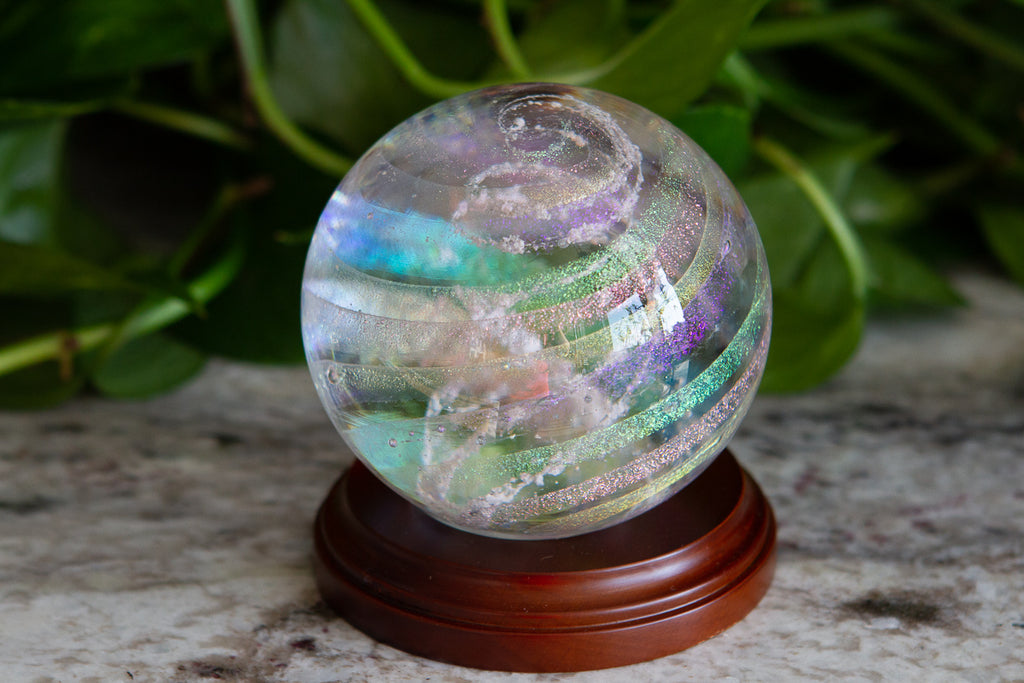 Circle Wood Paperweight Stand