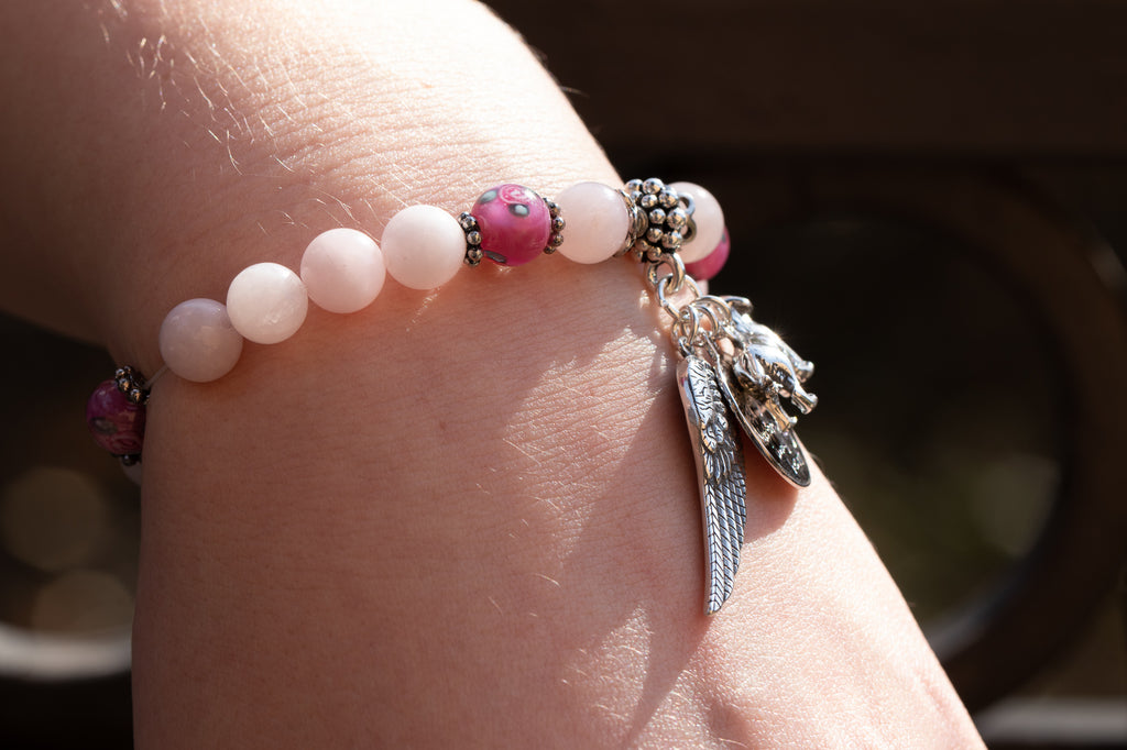 Memorial Friendship Bracelet - Pink Quartz