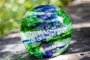 Tranquil Swirl Paperweight with Cremation Ash - FREE SHIPPING by Rachel - PAPERWEIGHT | $159.00, ashes in glass
