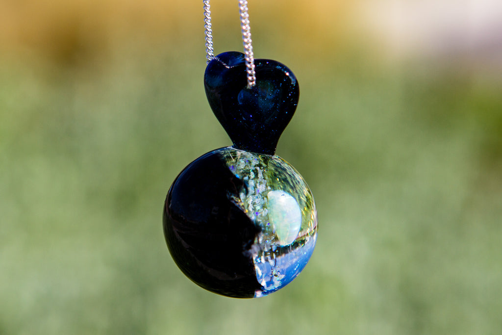 My Heart in Stars Pendant with Opal