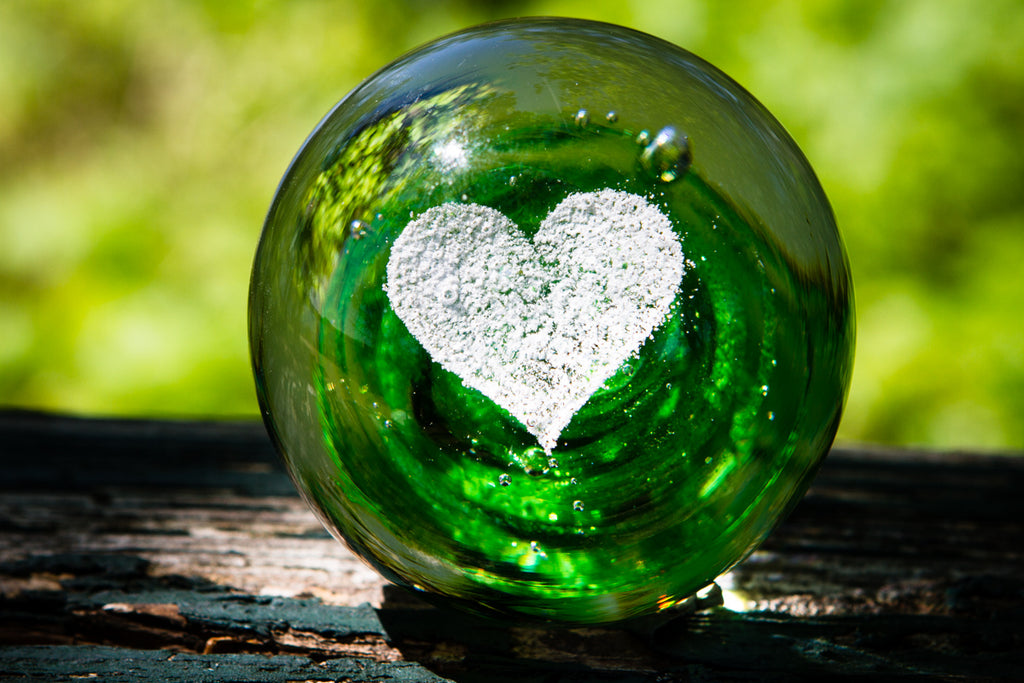 Heart Snowfall Orb with Cremation Ash - PAPERWEIGHT | $144.00