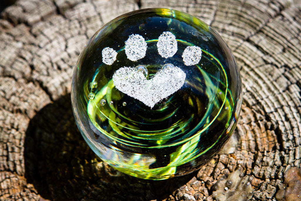 personalized paw print pendant memorial ornaments in memory of a deceased pet