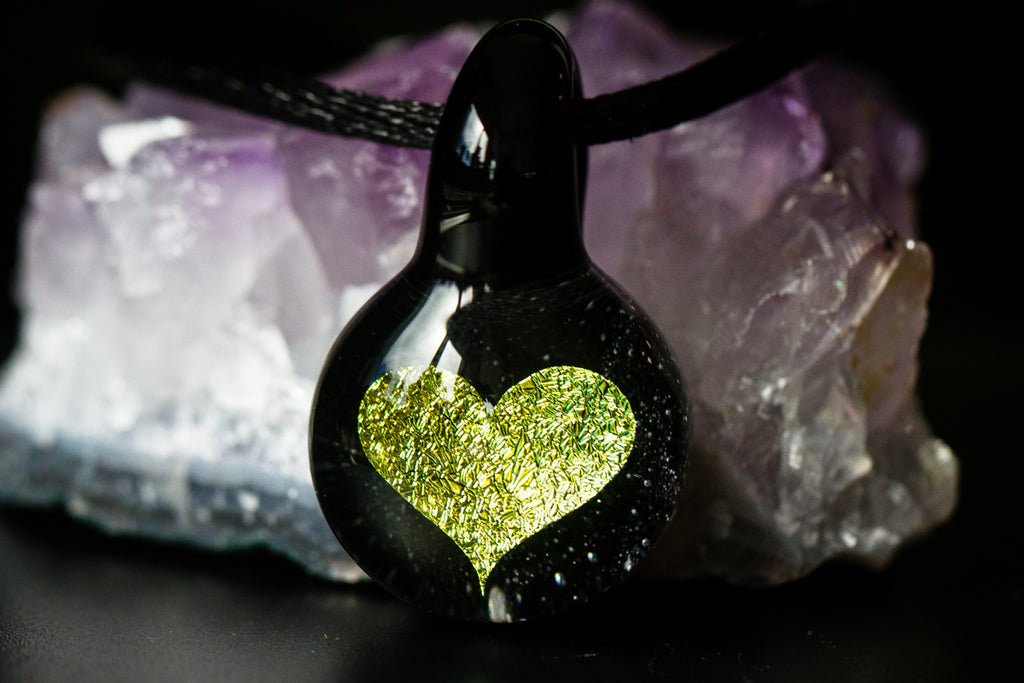 heart hologram pendant