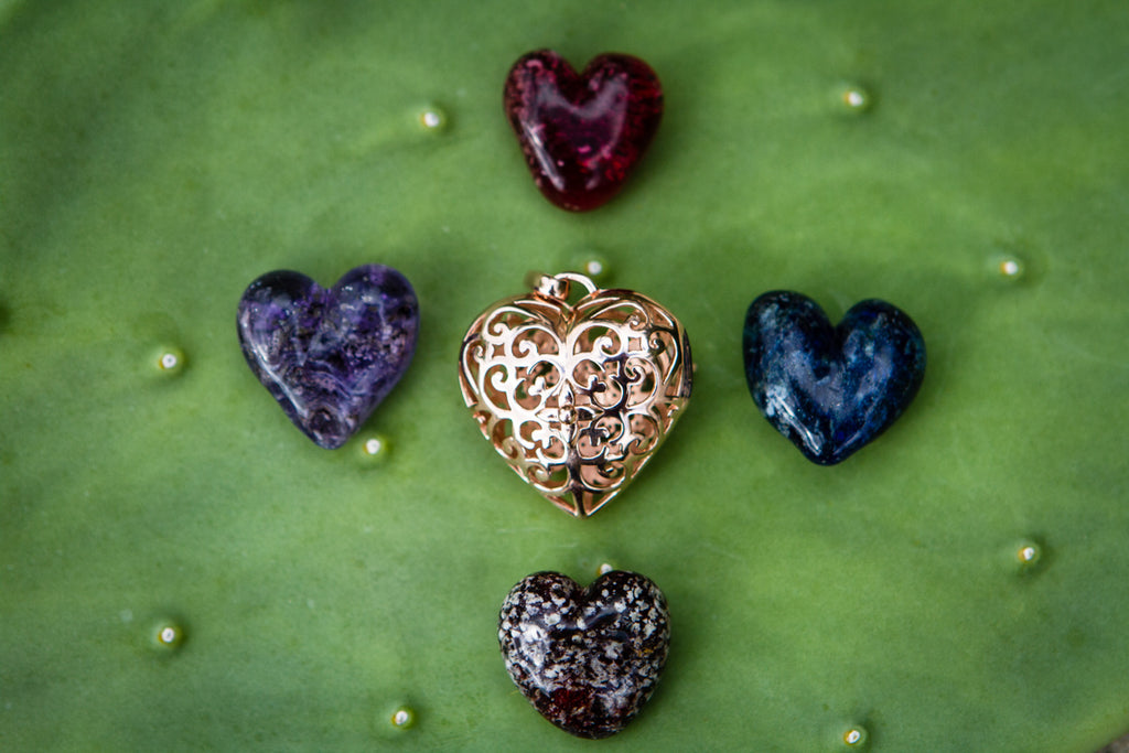 cremation jewelry necklace hearts