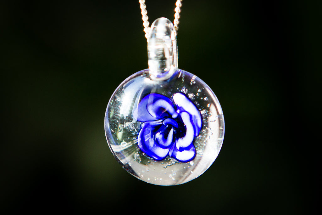 Petite Rose Pendant with Infused Cremains