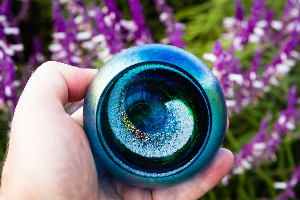 Northern Lights Galaxy Paperweight with Cremains - PAPERWEIGHT | $319.00