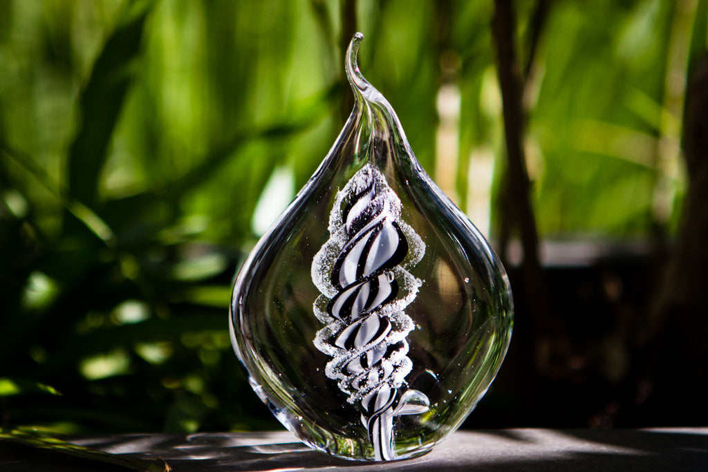 Memorial Glass Flame with Cremation Ashes - PAPERWEIGHT | $149.00