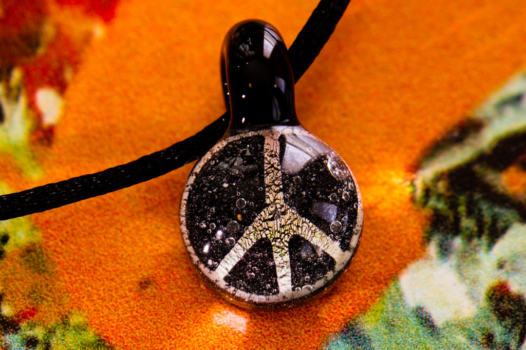 Peace Sign Cremation Jewelry