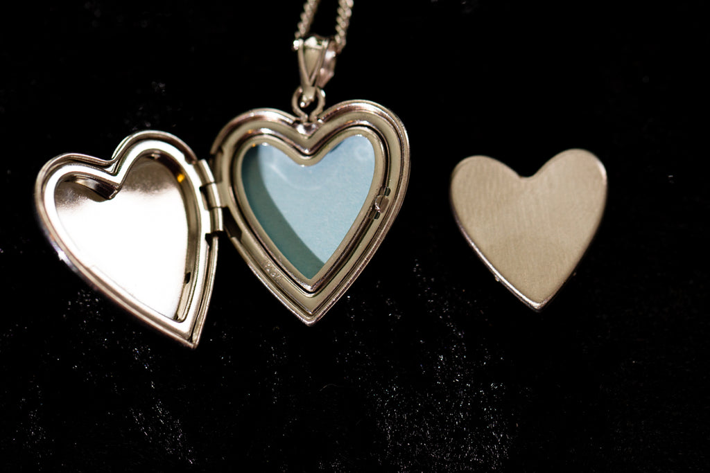 Sterling Silver Heart Locket with Cross - Cremation Jewelry | $59.00