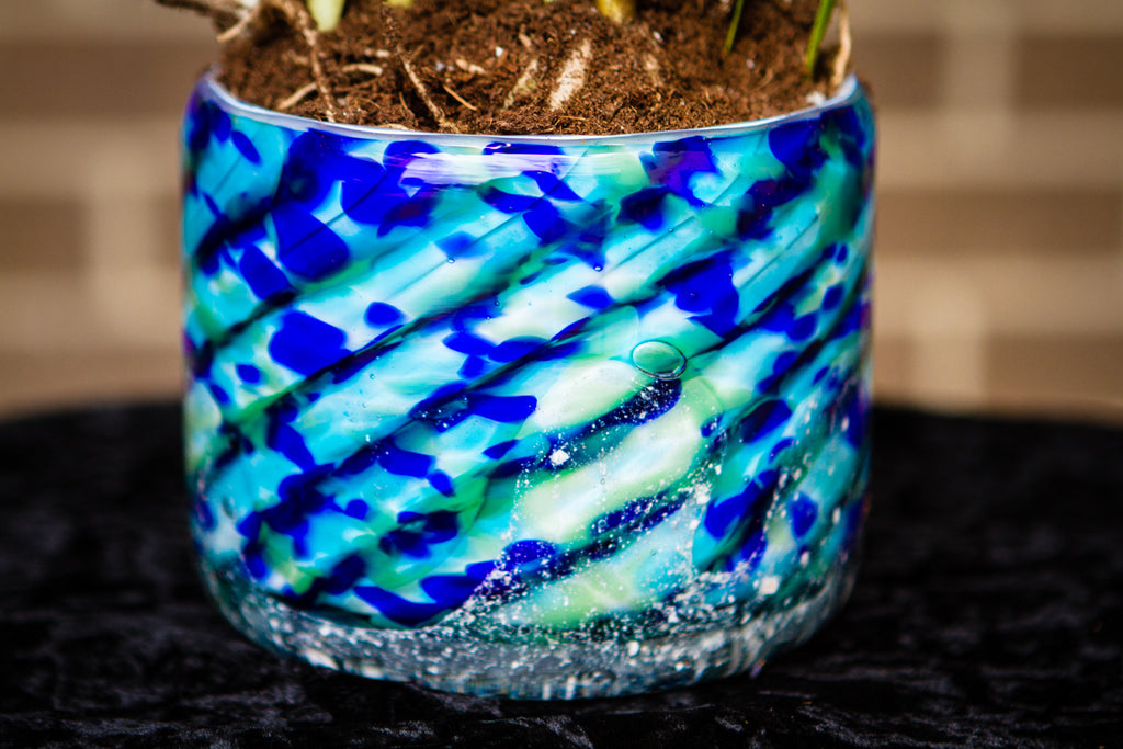 Blue Stripped Memorial Planter for Succulents and Plants - Planter | $179.00