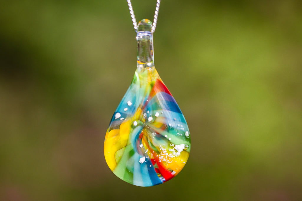 Cremation Jewelry Rainbow Twist