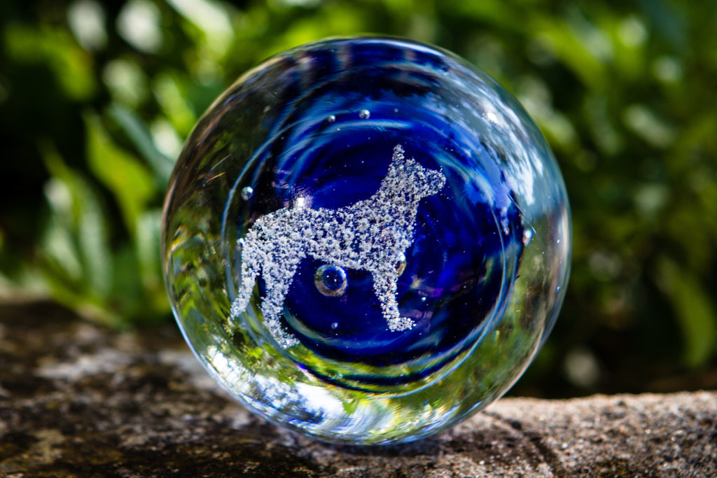 Dog Snowfall Orb with Cremation Ash - PAPERWEIGHT | $144.00
