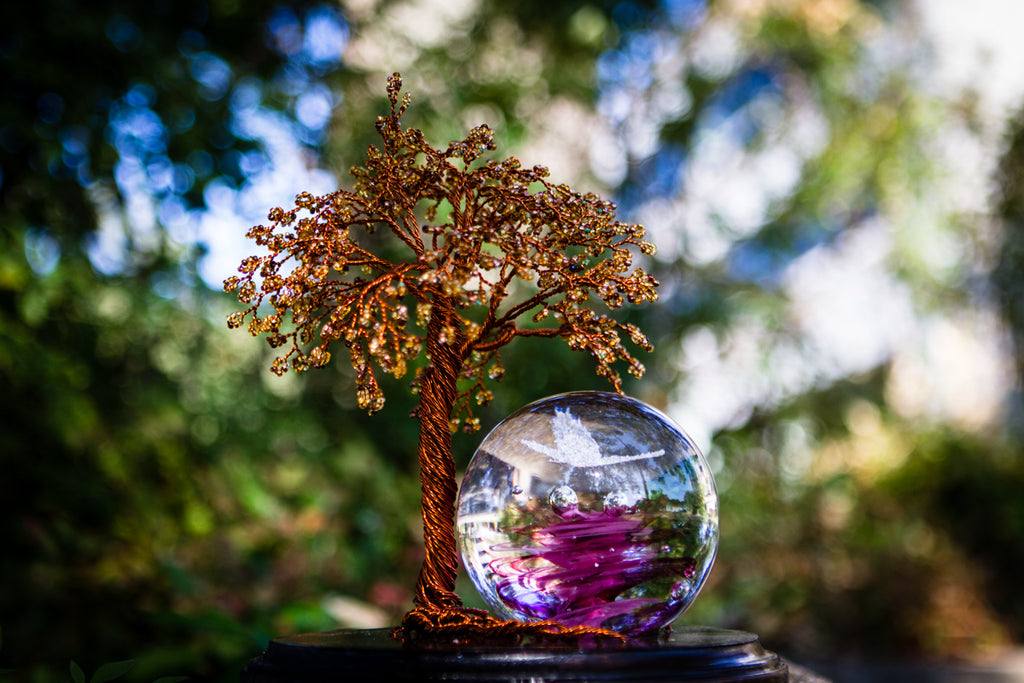 Large Autumn Tranquility Tree - TREE ONLY by Spirit Pieces - Tree of Life | $389.00, ashes in glass