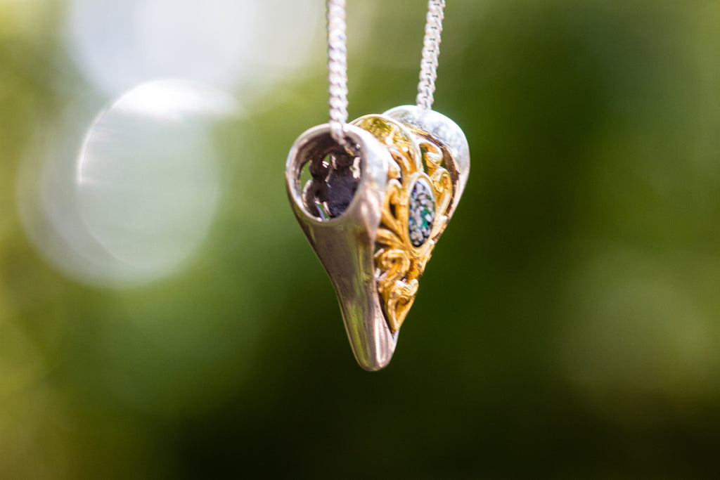 Arrowhead Pendant with Cremation Ash - Cremation Jewelry | $129.00