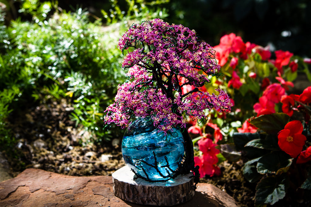 Pink Dogwood Tree of Life ONLY - JUST THE TREE by Carol - Memorial Tree | $349.00, ashes in glass