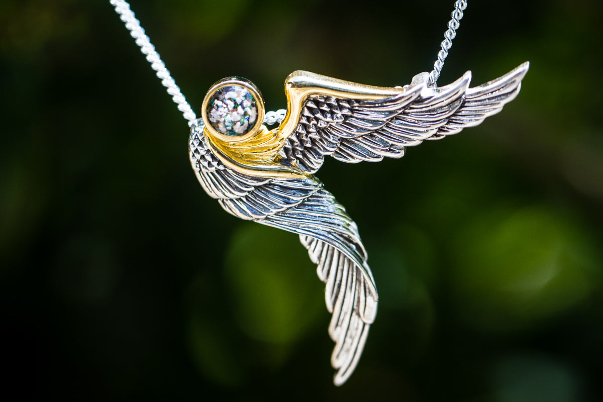 Gold Plated Silver Guardian Angel