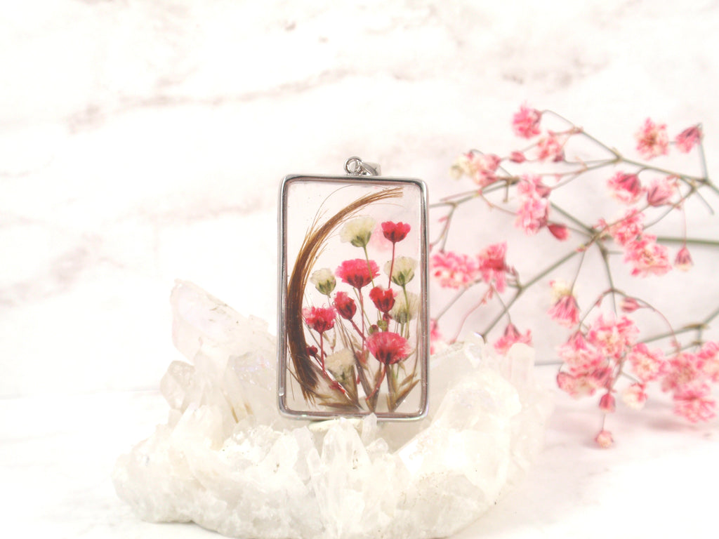 square flower pendant