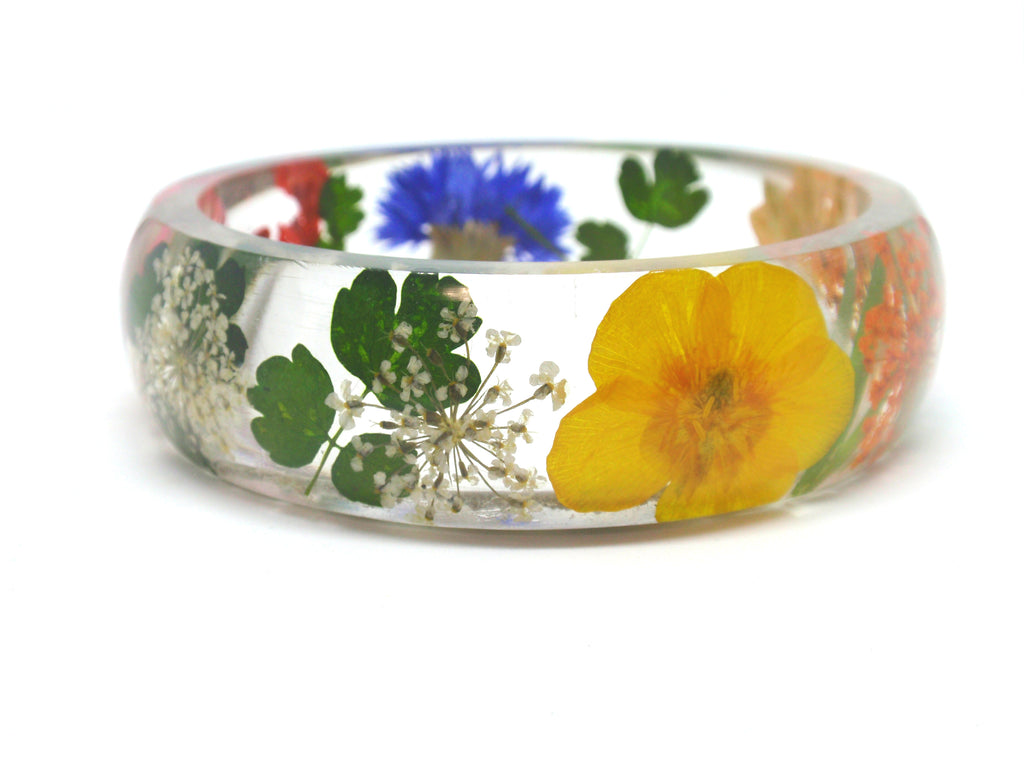Wildflower Bracelet with Infused Cremation Ash - Bracelet > Memorial Bracelet > Bracelet with Cremation Ash > Sympathy Bracelet | $134.00
