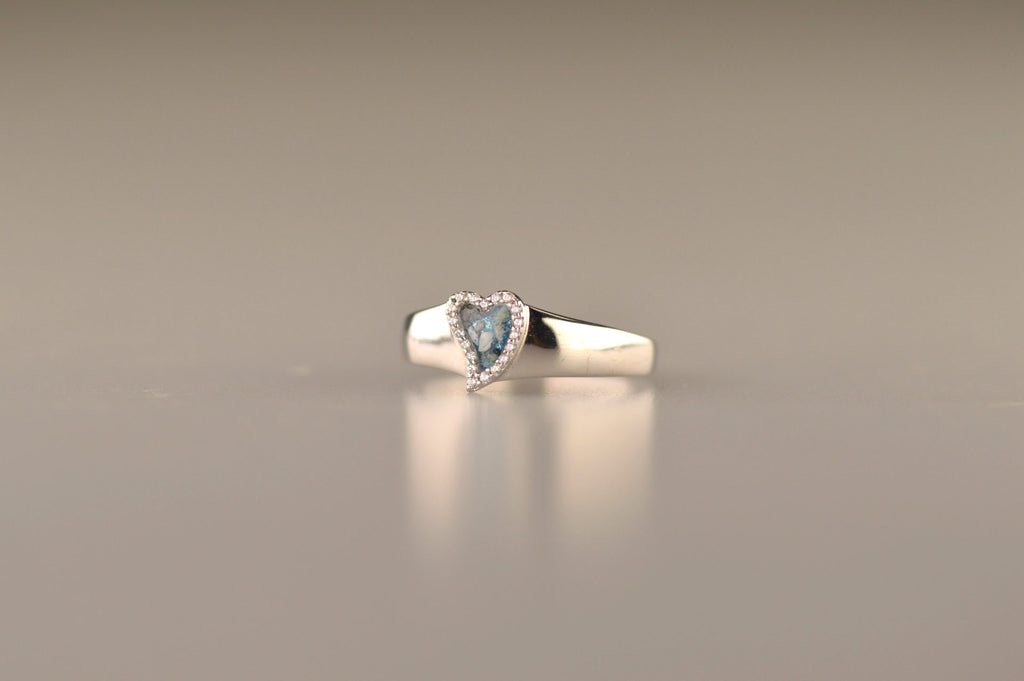 heart zircon ring
