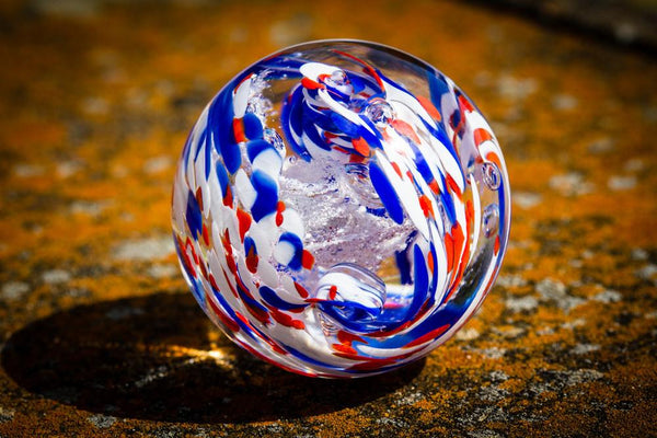 American Confetti Paperweight by Aaron 11900 Ashes in