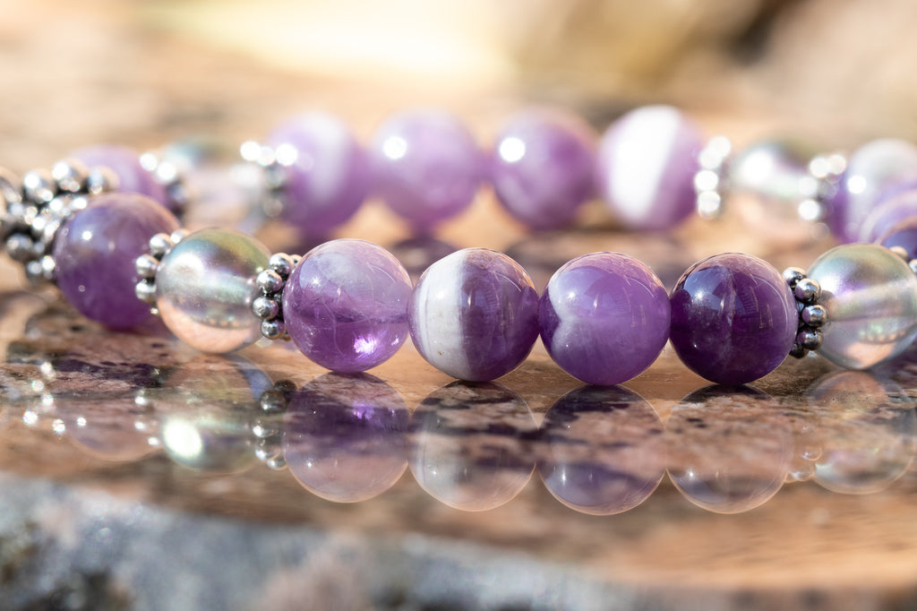 Memorial Friendship Bracelet - Amethyst