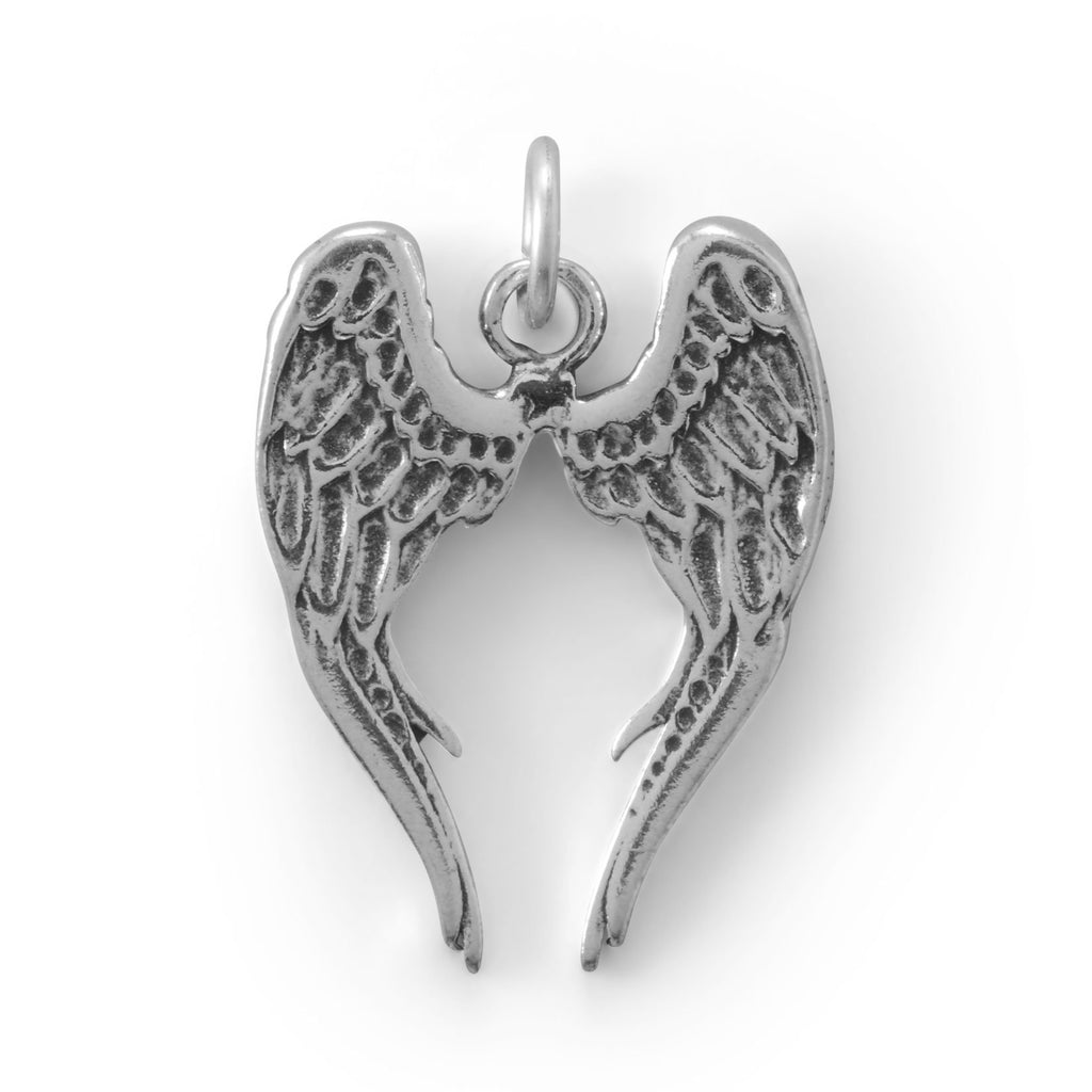 Angel Wings Silver Charm
