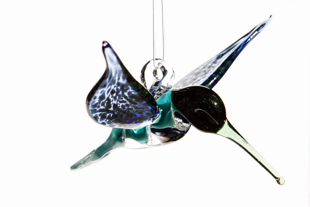Aqua Glass Hummingbird with Infused Ash - SUNCATCHER | $124.00