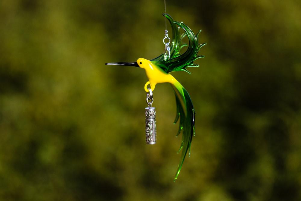 Bee Eater Bird with Silver Keepsake for Ashes