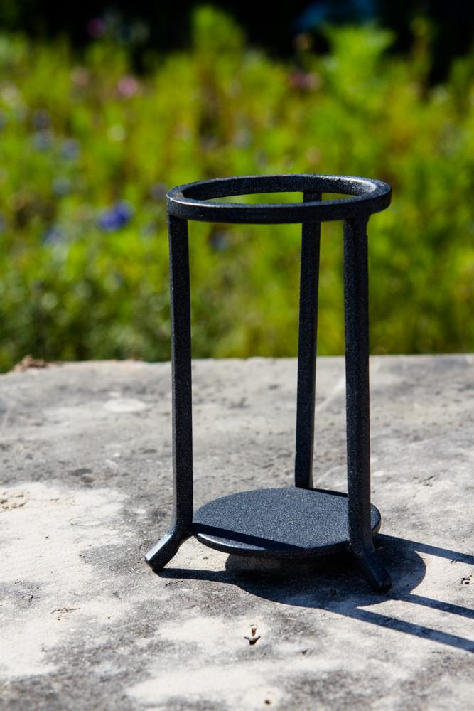 Black Wrought Iron Stand Three Legs
