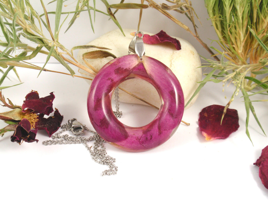 Funeral Flower Halo Pendant - Free Shipping