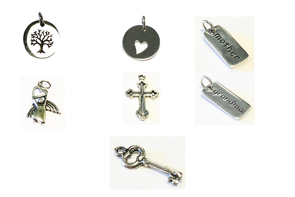 Sterling Silver Charms for Glass Bolo Bracelets