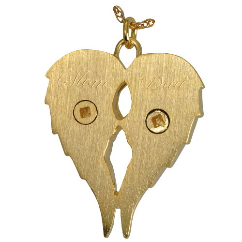 Angel wings pendant for rememberance of two individuals by kindred angel wings pendant for rememberance of two individuals aloadofball Choice Image