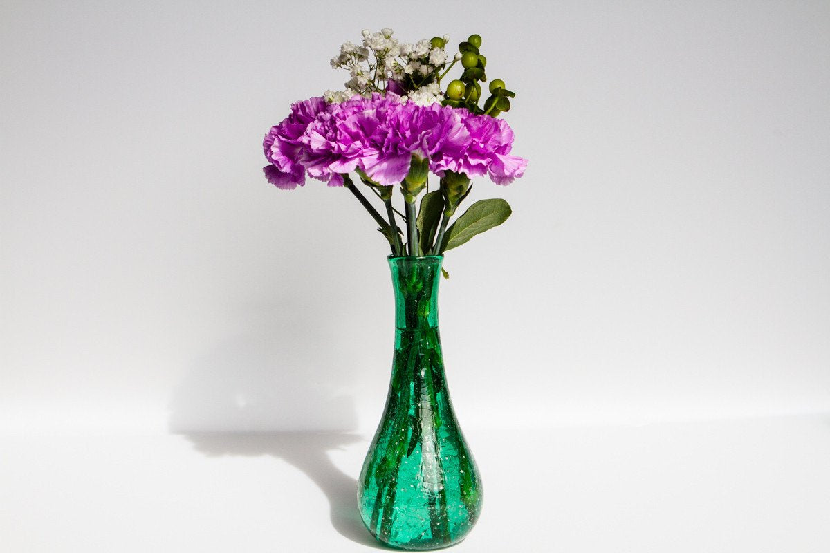 Crinkle Bud Vase With Infused Cremation Ash By Foster 14900