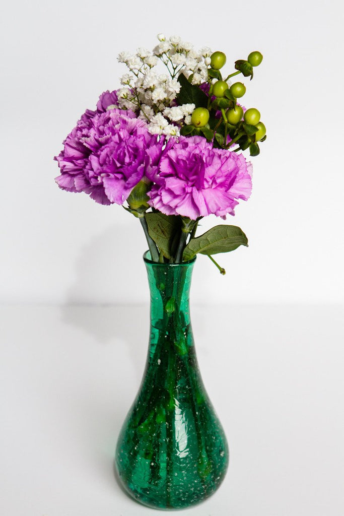 Crinkle Bud Vase with Infused Cremation Ash
