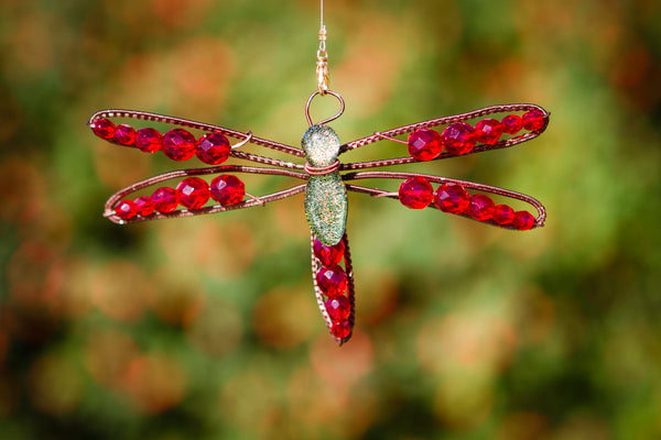 Dragonfly Memorial Ornament Crystal Beading By Charles
