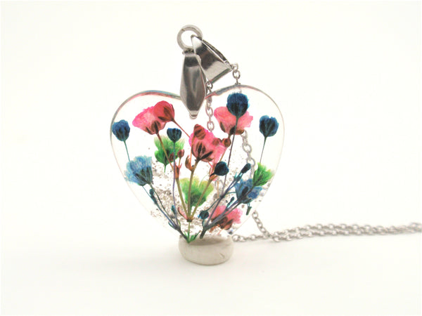 Crystal Resin Necklaces Cremains And Hair Keepsake