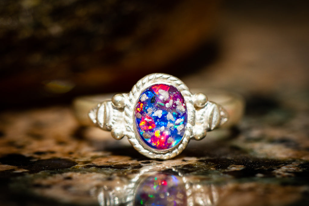 fringed opal ring