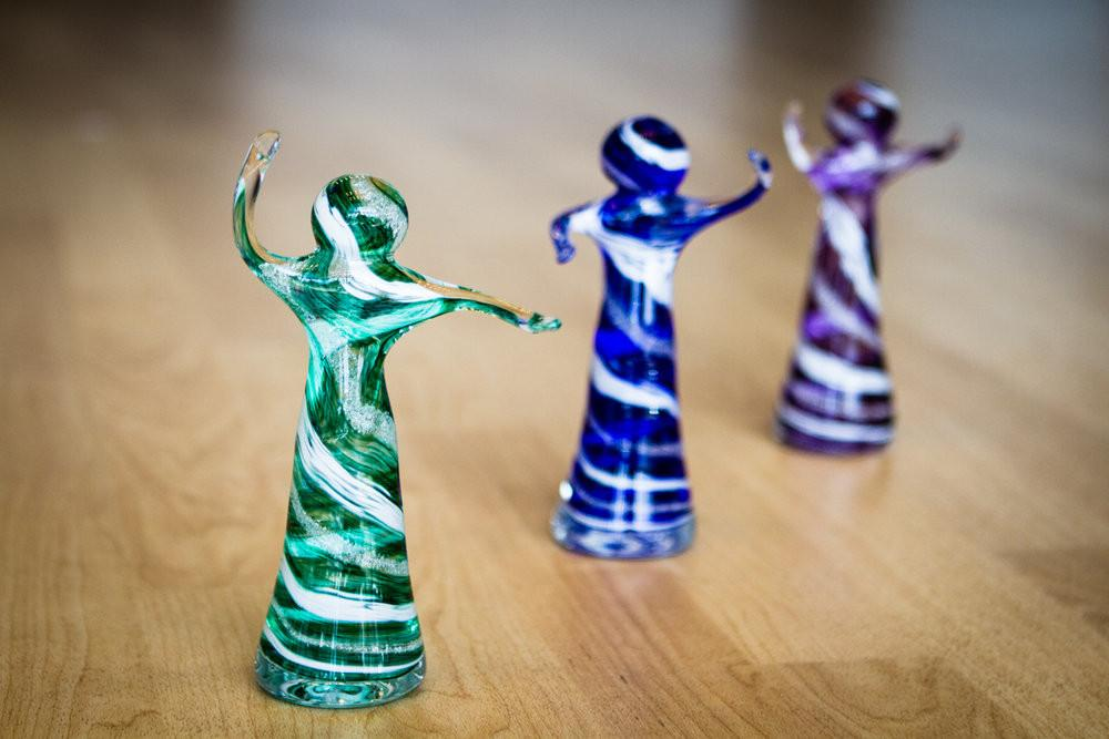 Glass Dancers with Infused Cremation Ash