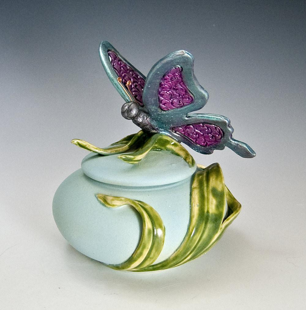 Handmade Butterfly Urn for Cremation Ashes of Loved One