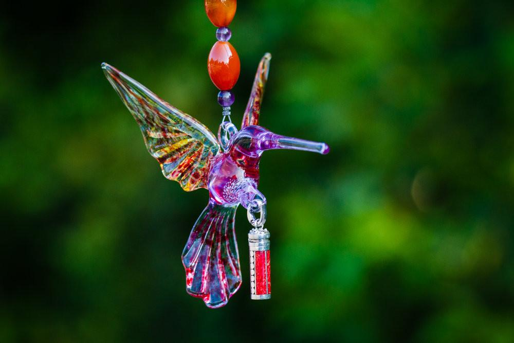 Heirloom Hummingbird with Sterling Silver Keepsake Vial