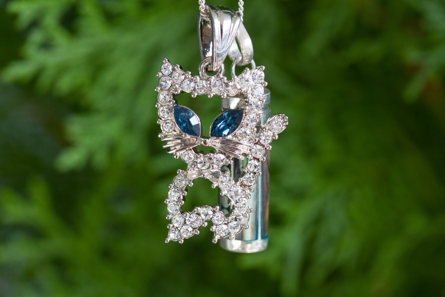 aa04e5e35 Kitty Cat Silver Sympathy Necklace - Black Abacone by Spirit Pieces ...