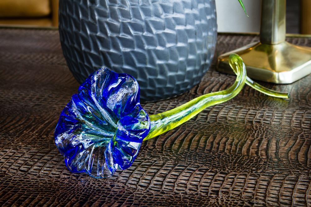 Large Curly Stem Memorial Glass Flower with Infused Ashes from People and Pets - FLOWER | $159.00
