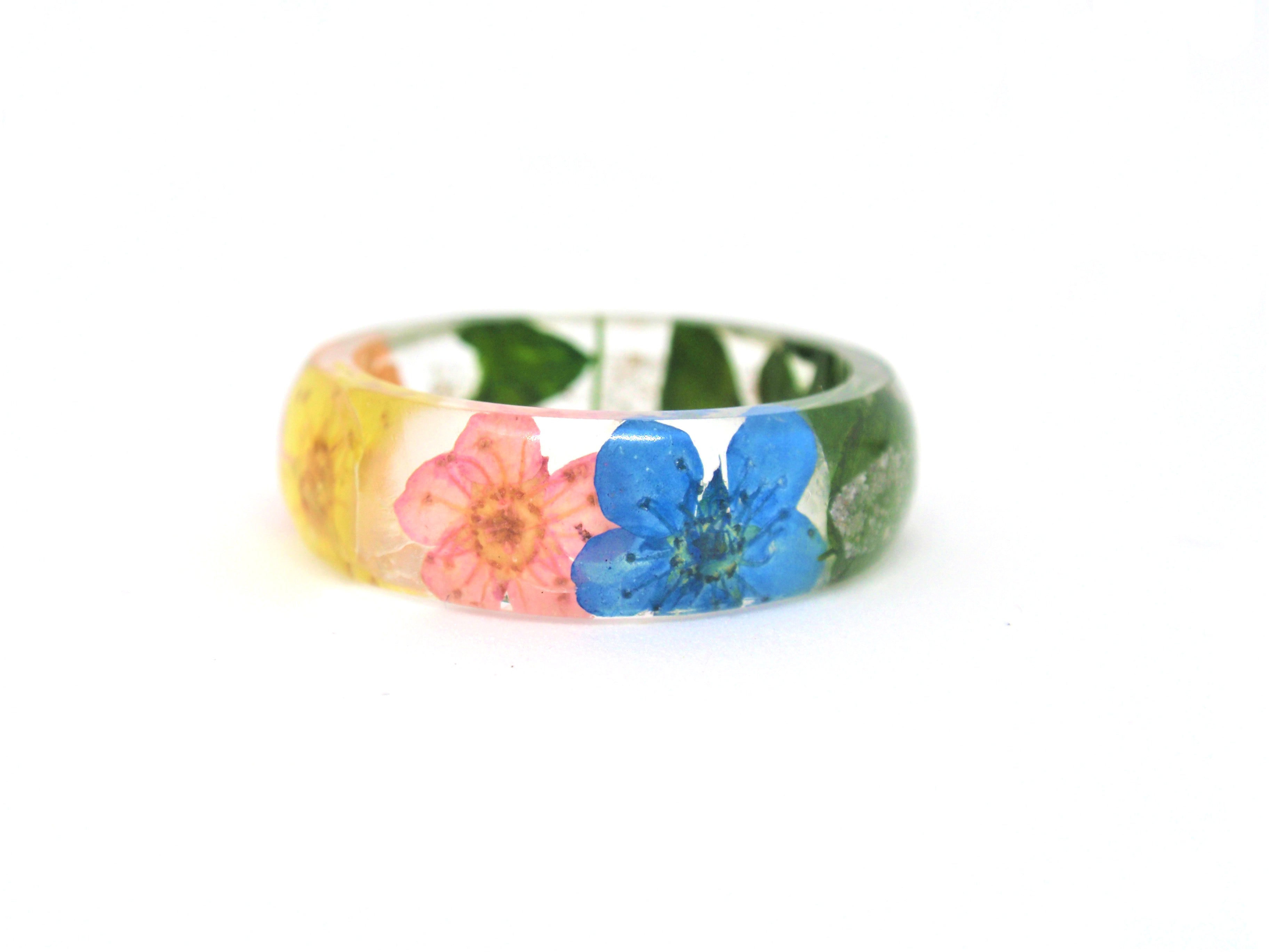 Wildflower Ring With Cremation Ash By Elena 7400 Spirit Pieces