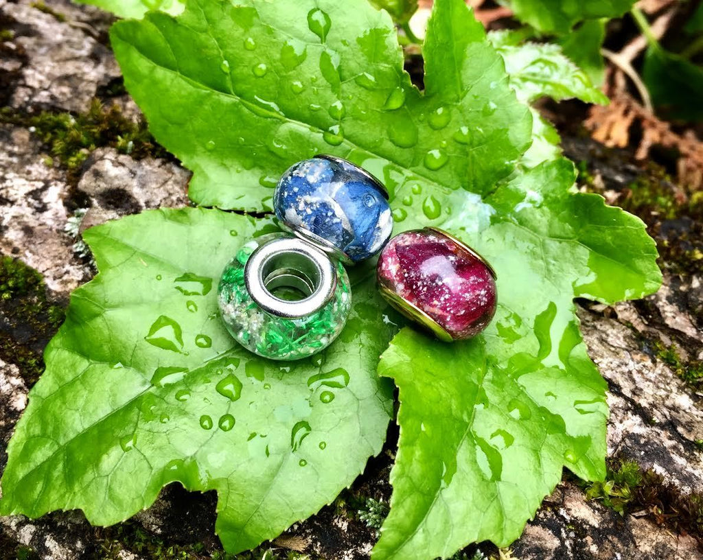 Nature's Love Pandora Beads with Cremains - Cremation Jewelry | $52.00