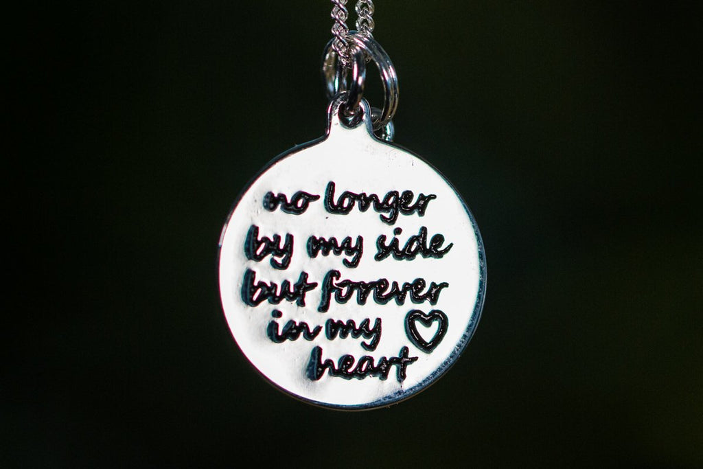 No Longer By My Side Keepsake Charm Pendant