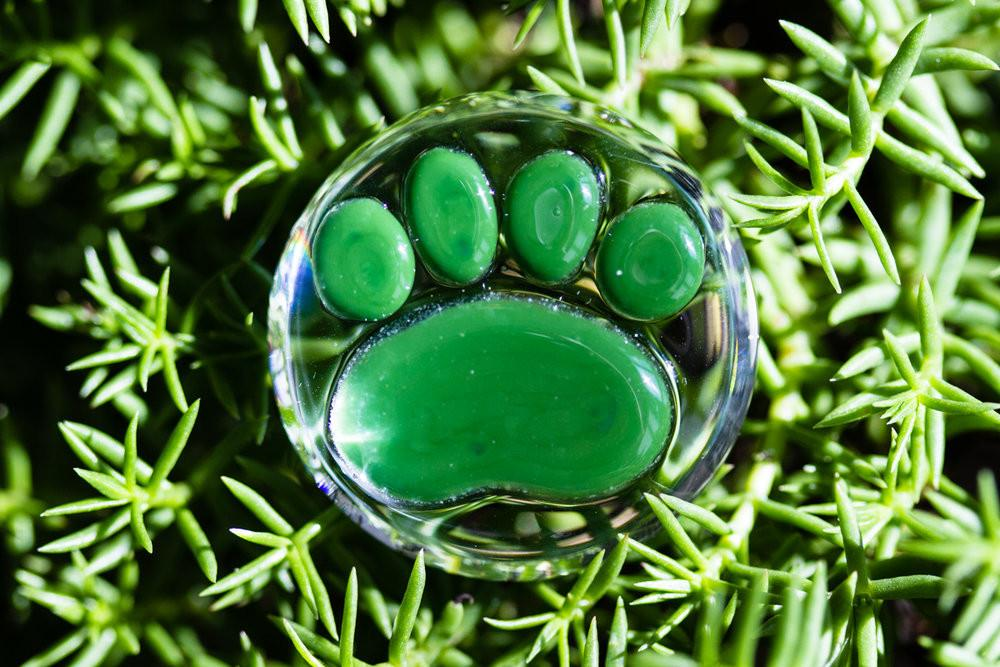 Paw Print Touch Stones with Cremains by Misha - TOUCHSTONE | $124.00, ashes in glass