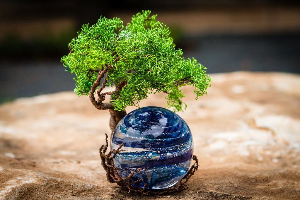 Ponderosa Tree Of Life with Sparkle Orb Infused with Cremains