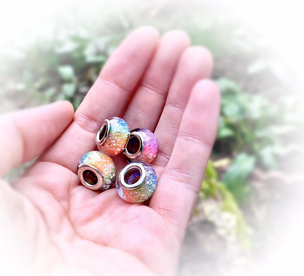 Rainbow Beads with Infused Cremation Ash (Multi-pack)