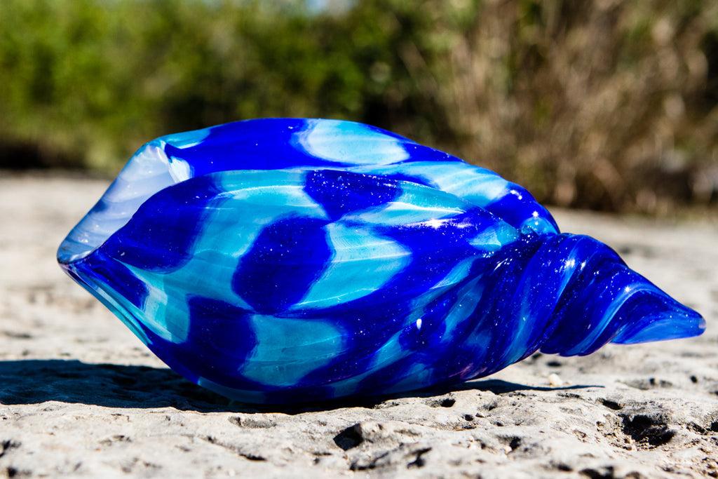 Glass Seashell with Cremation Ash - HomeDecor | $219.00